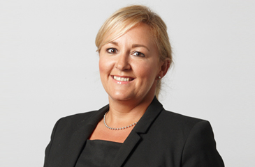 Nicola Saunders a serious injury and medical negligence lawyer for Thompsons wearing a black suit