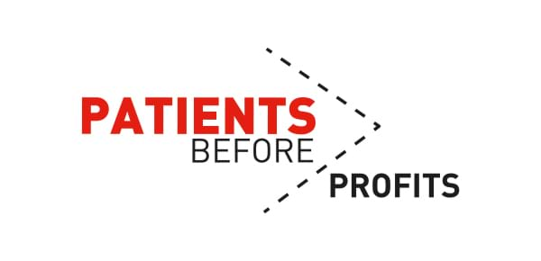Patients Before Profits banner